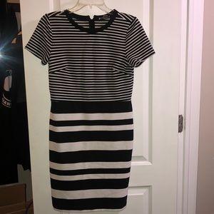 Loft size 6 Striped Pencil skirt-dress